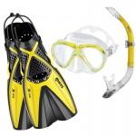 Mares X-One Marea snorkelset-yellow